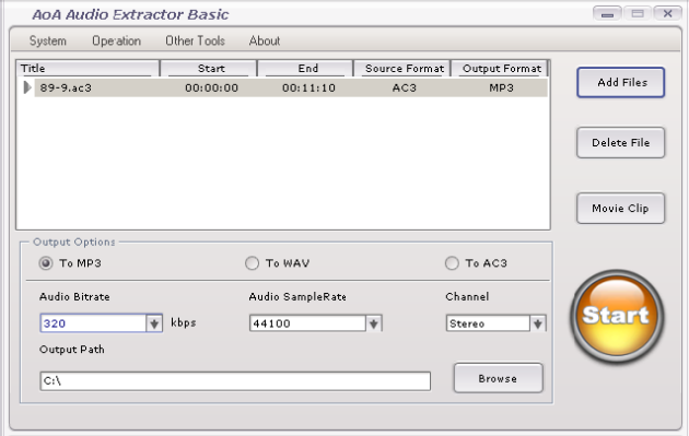 Handling DVD conversions using AoA Audio Extractor Basic
