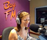 Debbie Kruger in the studio on 99.9 Bay FM