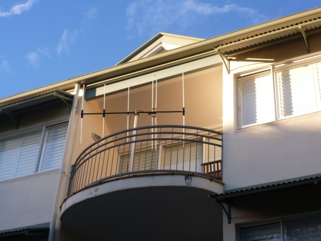 View of the rear balcony from ground level - Noosaville