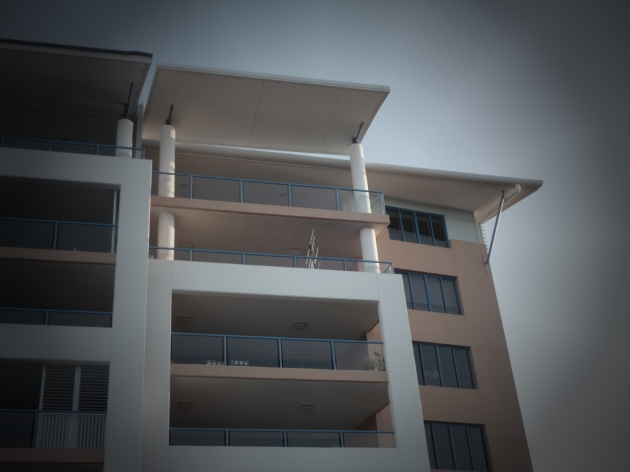 View of the front balcony from sea level - Pelican Waters