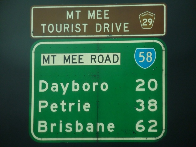 Tourist drive sign, Ocean View