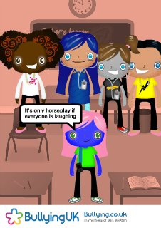 Anti Bullying poster © 2009 Bullying UK charity