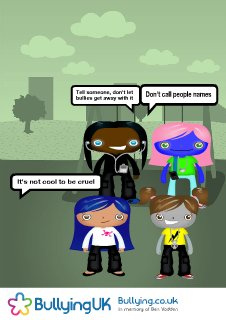 Anti Bullying poster © 2009 Bullying UK charity