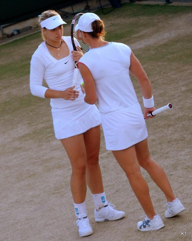 Lisicki & Stosur at Wimbledon © 2011 Carine06