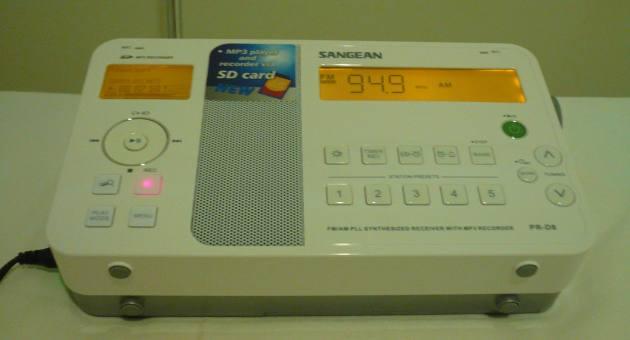 Recording mode & Backlight - Sangean PR-D8