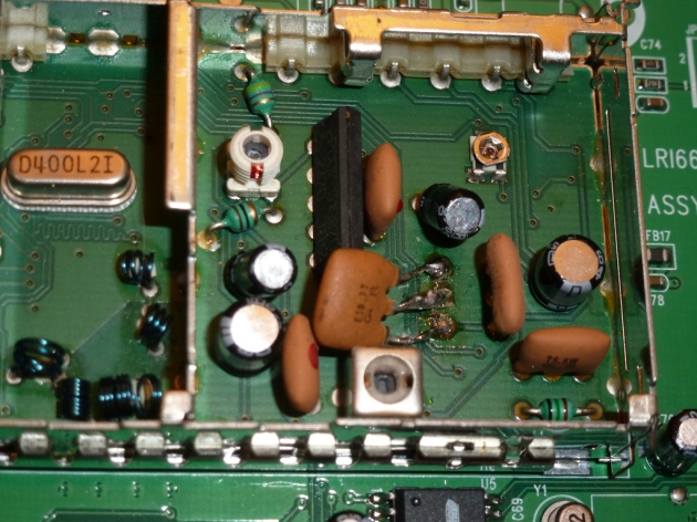 80 kHz filter replacement pictured lying flat, E10.7T - FM1216 module