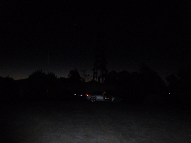 Site in darkness