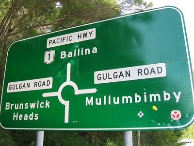 Mullumbimby road sign © 2008 Yellow Arrow