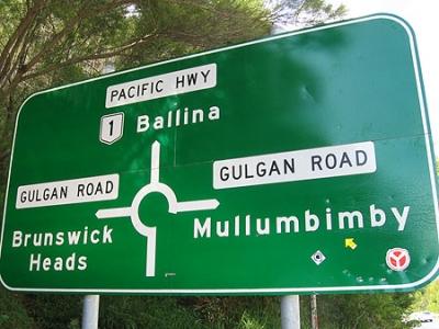 Mullumbimby road sign © 2008 Yellow Arrow