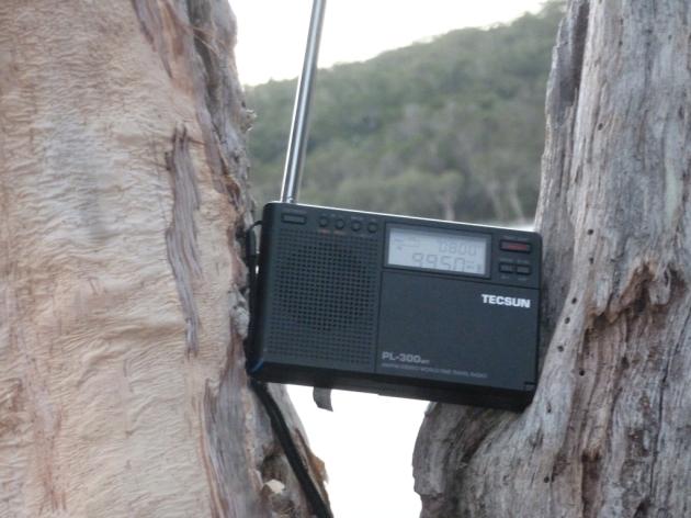 Tecsun PL-300WT radio at Lake Poona © 2014 FM DXing