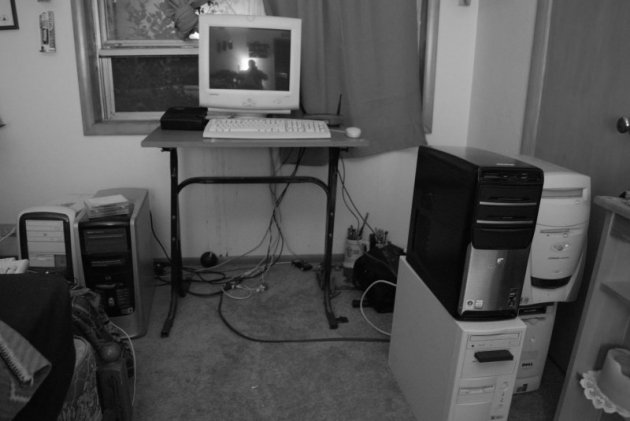 Old desktop computers © 2009 Brian Landis
