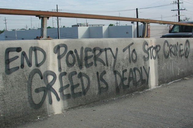 Graffiti: Greed is deadly © 2007 Bart Everson