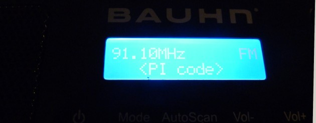 PI code mode on Bauhn ADS-215 © 2014 FM DXing