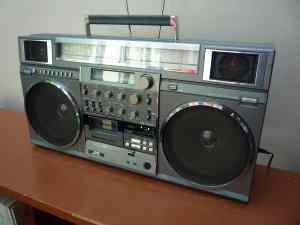 Vintage JVC one-piece boom box © 2011 Neil.